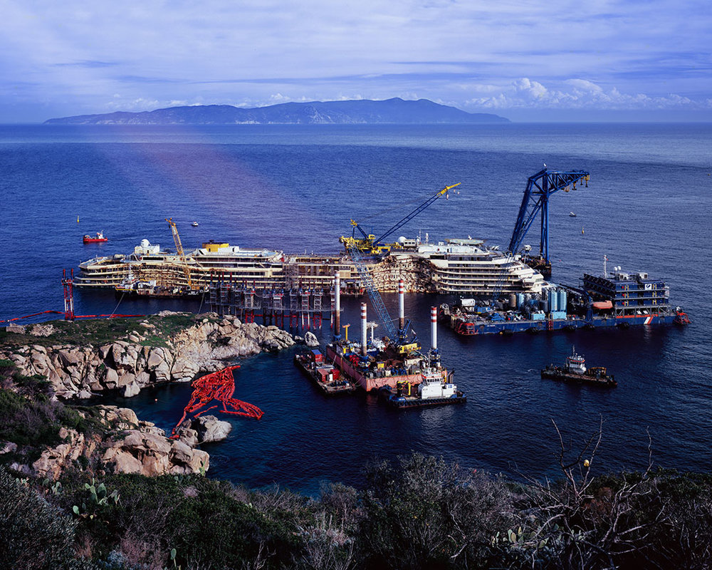 A Light Leak On the Ruins of the Costa Concordia