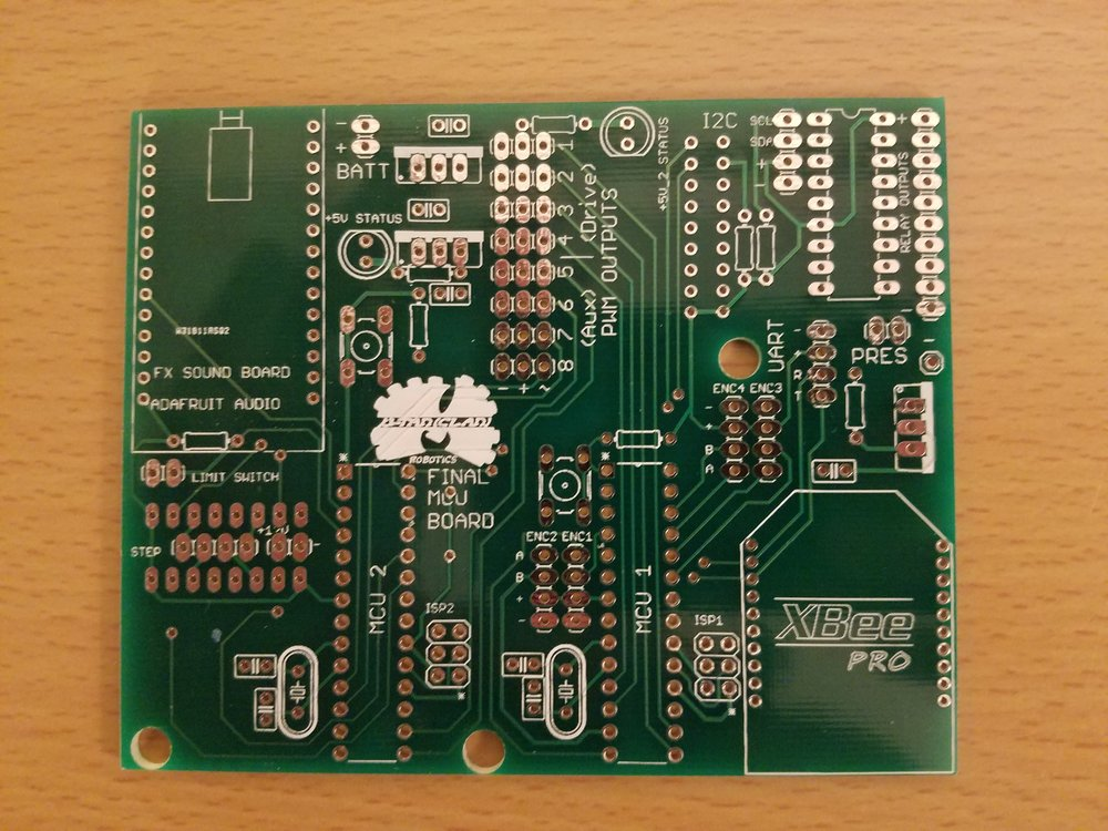 Senior year I made a PCB for us to simplify our design as opposed to using a dev-board.