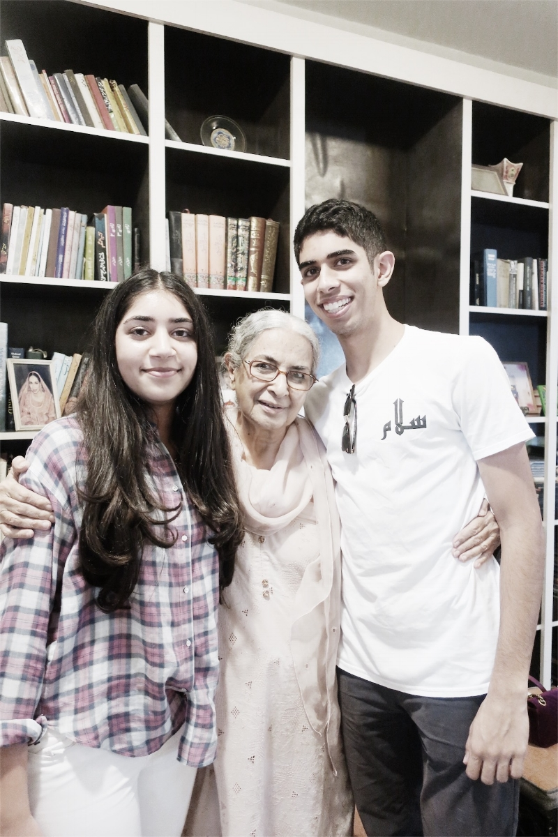 Isaad & Lulu with their Nono (maternal grandmother)