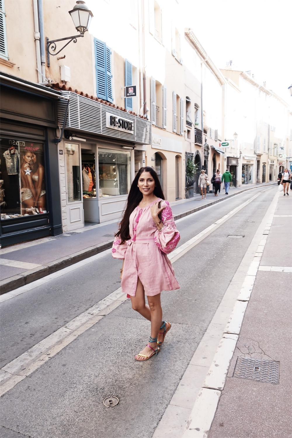 Posing on the streets of St. Tropez