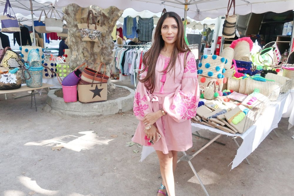 At the farmer's market. Love this tunic by  French Knot