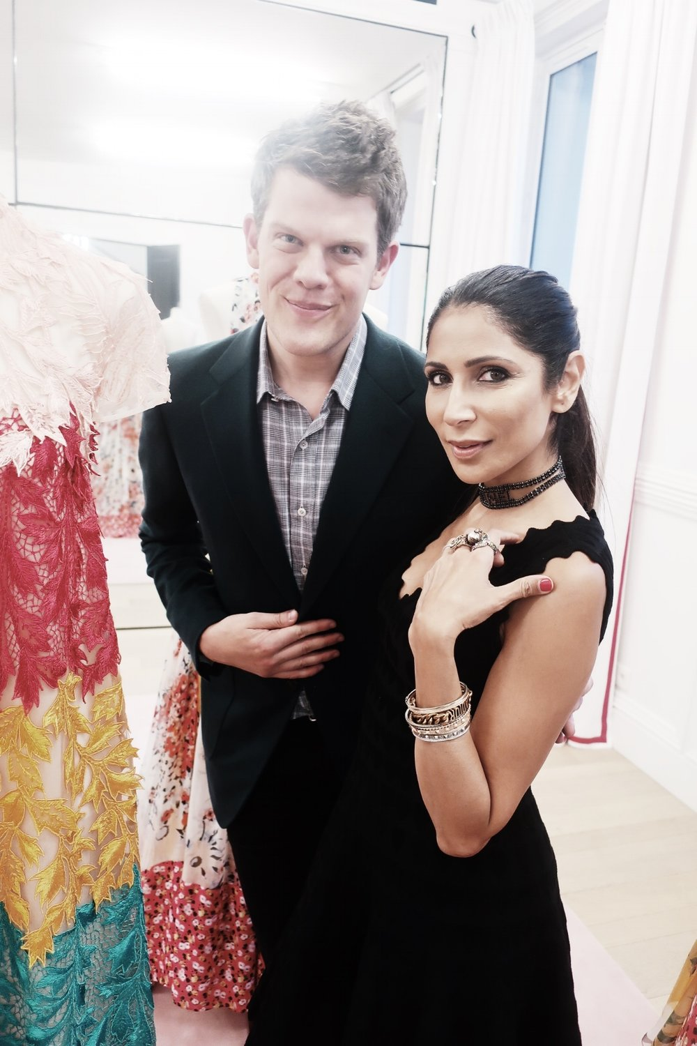 At the    Carolina Herrera    showroom with the incredibly talented and super sweet Wes Gordon, Creative Director, Carolina Herrera. He is the epitome of a true gentleman!!