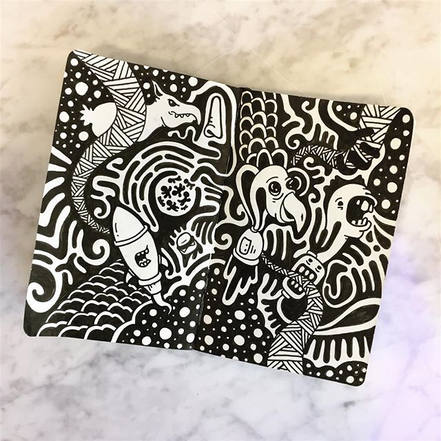 First post since hitting 10k followers. Thanks for the love fam 🤖🤖 #abstract #graffitiart #art #pattern #graffiti #drawing #doodle #sketch #sharpie #design #graphicdesign #illustration  #losangeles #art_spotlight #artofdrawingg #artistic_nation #artcollective #iblackwork #artpostdaily #zentangle #artsanity #artfido #arts_gallery #lineart #mandala #zendala #streetart  #inkfeature