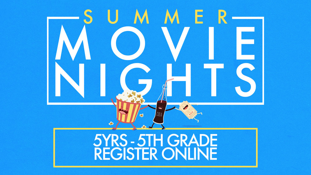 Let us take the kids on a Friday night for you! FREE movie and pizza provided for kids ages 5 through 5th Grade.  Here's a list of the dates and movies lined up for this summer:   June 8th: Cars 3 June 22nd: Ferdinand July 13th: Paddington 1 July 27th: Paddington 2   For more information and to register, click the button below.