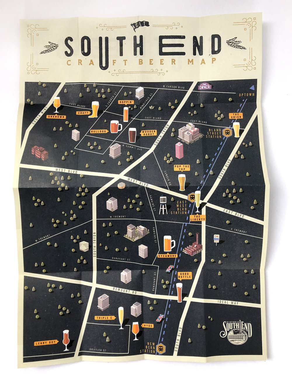 SOUTH END CRAFT BEER MAP    BRANDING