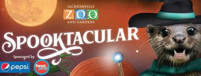 When: October 12-14, 18-21, and 26-31  Where: Jacksonville Zoo  Ok, the Zoo does it up right! If you've never been to their Spooktacular, then put yo costume on and GO! Kids or not, it's a fun event. The characters and props are the best!  Also, this event - which takes place during the Spooktacular celebration- looks super fun!  A Wildlife Costume Party  takes place October 12th and includes dinner, a silent auction and entertainment.