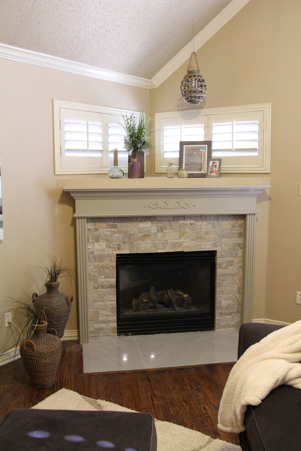 Full service Client: fireplace refresh, accessories, & styling