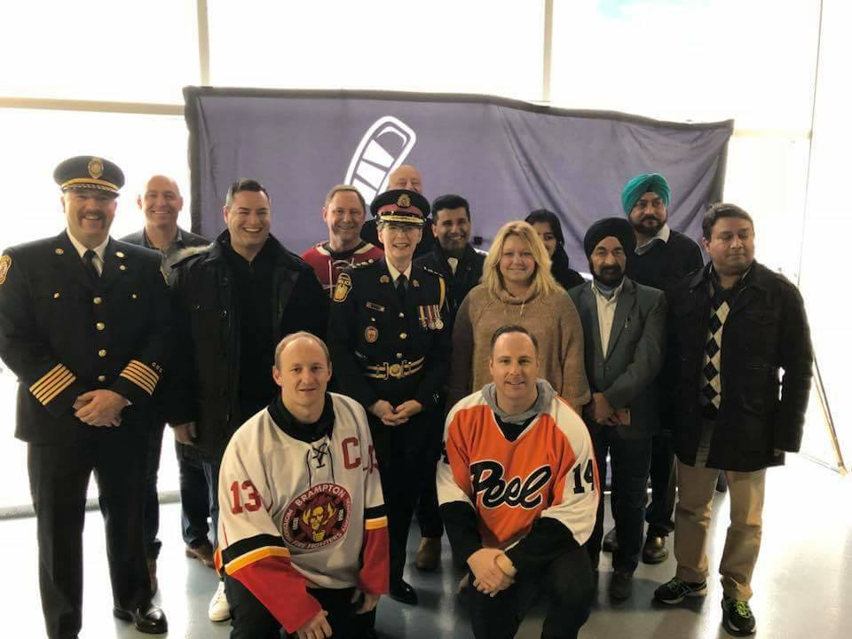A superb day of hockey action was in support of Regeneration Brampton, recognizing the tremendous work they do with those in need.