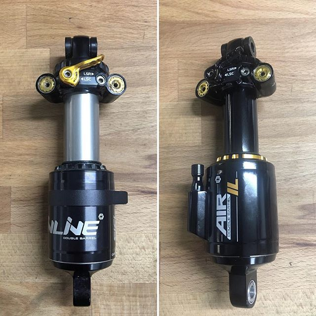 BEFORE ⬅️ and AFTER ➡️ a @canecreekusa Double Barrel Air Inline to IL upgrade. See our story for some more details on the process. If you own a Cane Creek Inline you could be missing out on improved performance. Contact us to book your upgrade today! . . .  #suspension #suspensionservice #mtb #mtbsuspension #mountainbike #mountainbikesuspension #premiumservice #onlythebest #canecreek #canecreekusa #upgrades