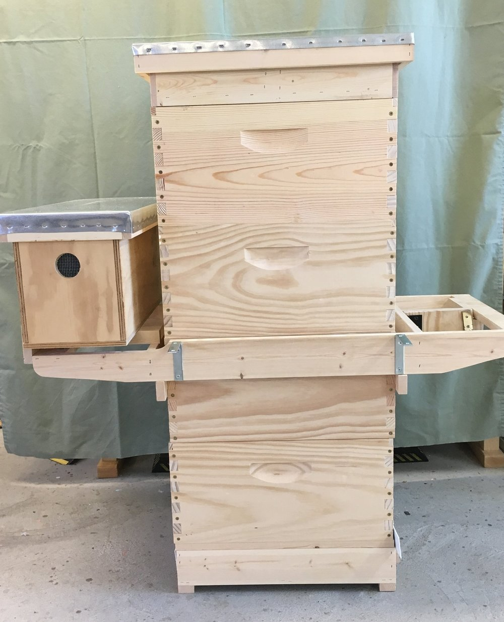Complete Double Deep Set up w S Hive Helper.JPG