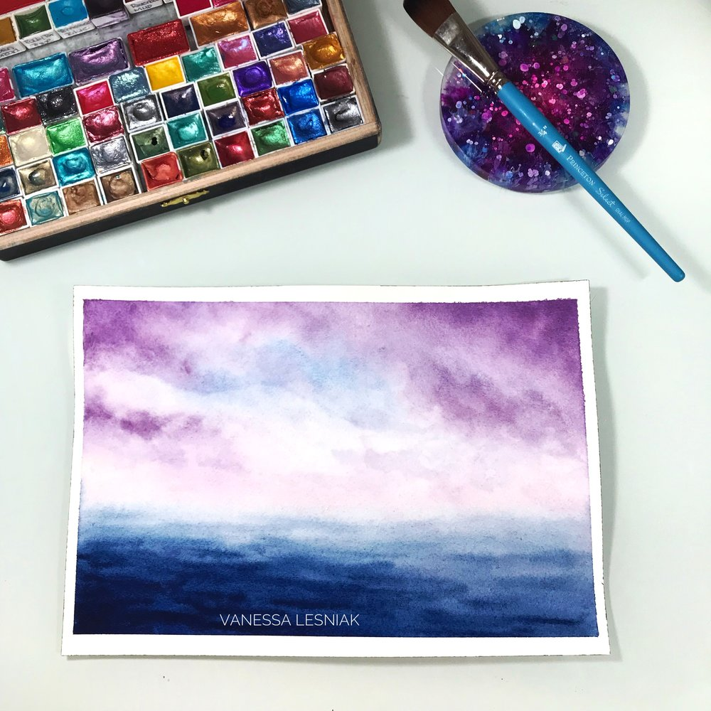 Seascapes - Here is a sample of a finished project. Individual creativity is highly encouraged!