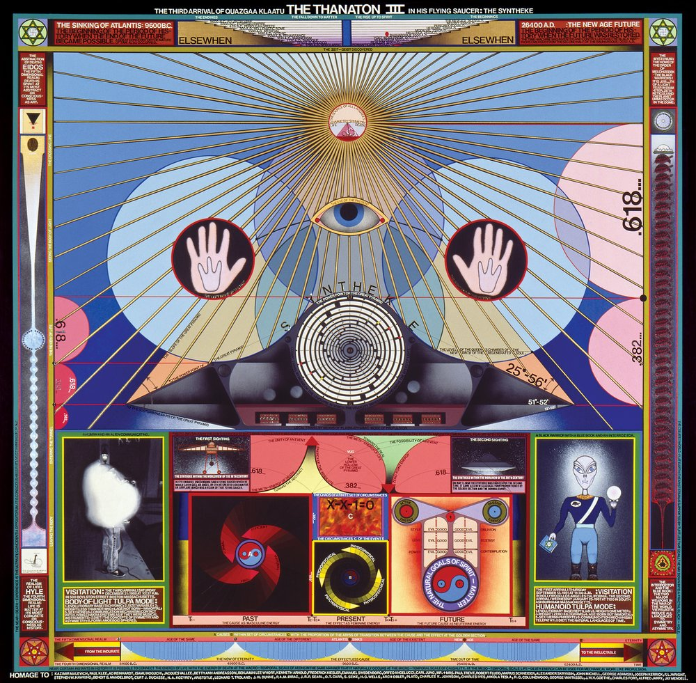 Architectonic Thought-Forms: Gedeankenexperimente in Zombie Aesthetics A Survey of the Visionary Art of Paul Laffoley Spanning Four Decades, 1967-1999, To the Brink of the Bauharoque - 1999 | Austin Museum of Art | Elizabeth Ferrer, J.W. Mahoney and Jeanne Marie Wasilik