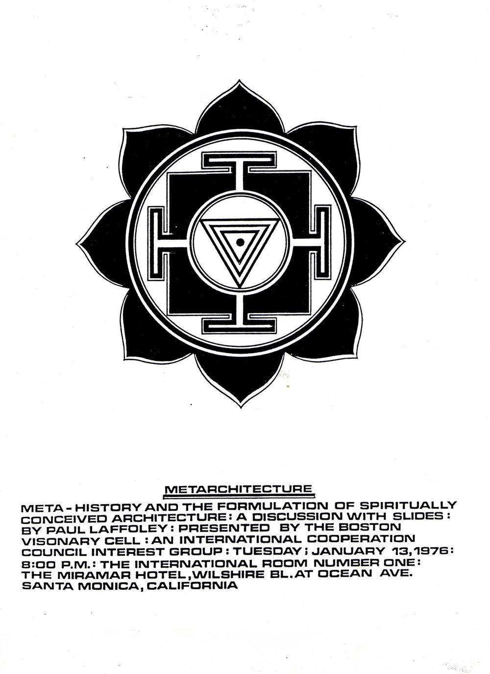 Metarchitecture Exhibition in Santa Monica, circa 1976