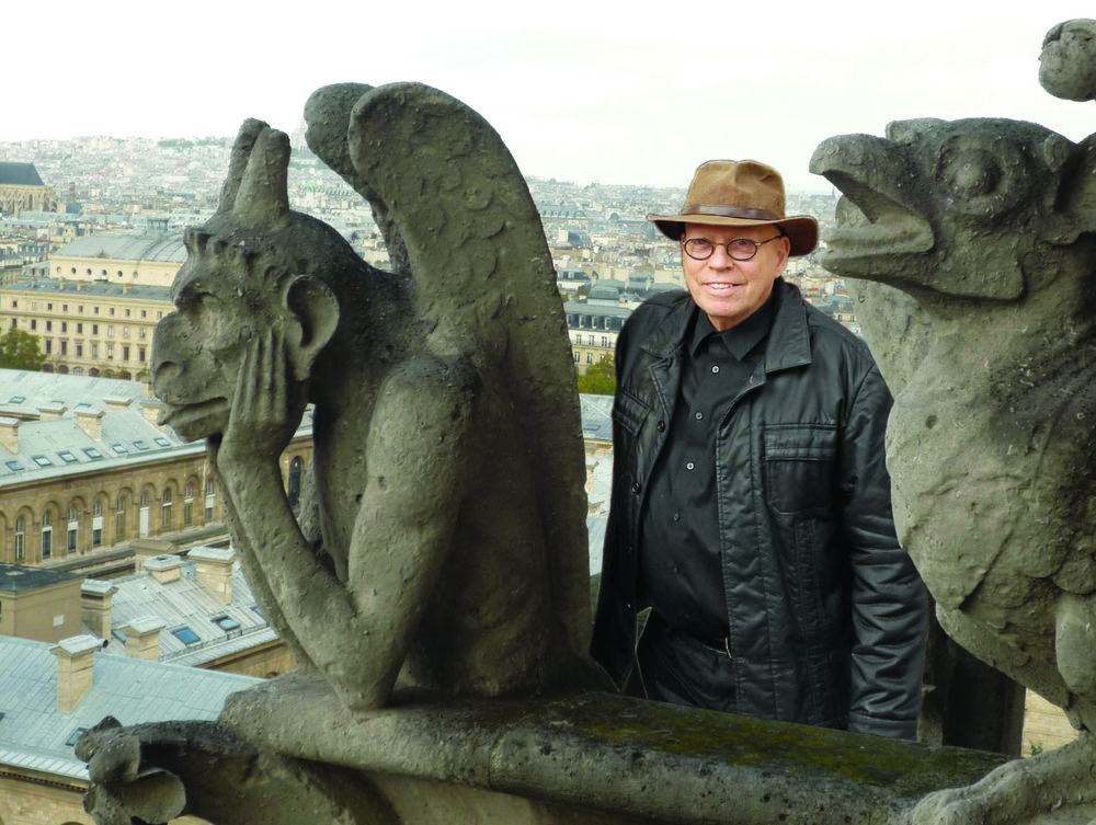 The Artist visiting Notre Dame Relatives, 2009