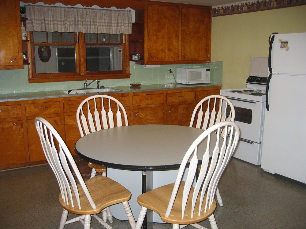 kitchen plus dining area