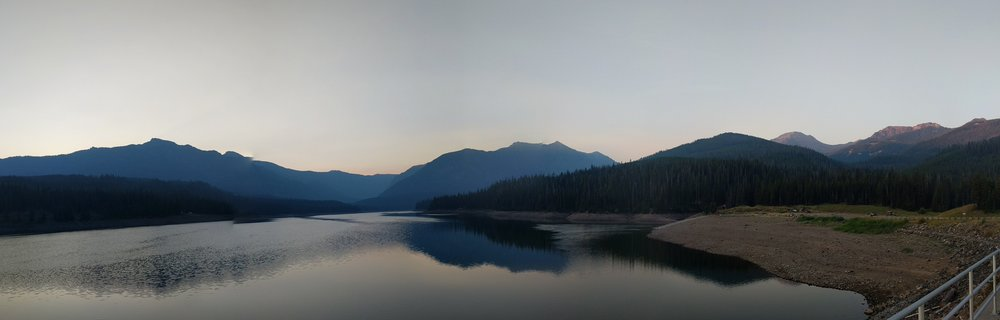 Hyalite Reservoir, just before dawn