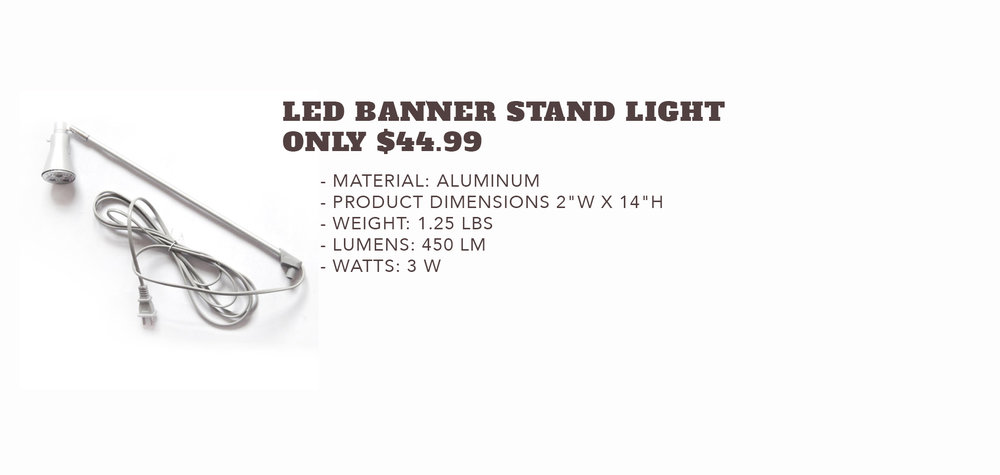 LED Banner Stand Light - Only $44.99