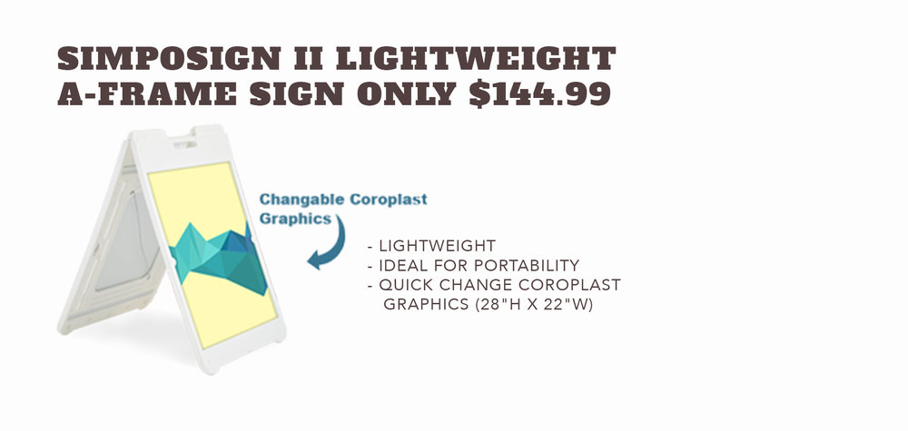 Simposign II Lightweight A-Frame - Only $144.99