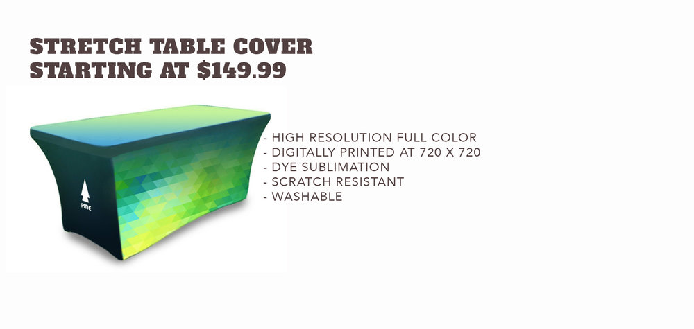 Stretch Table Cover - Starting at $149.99