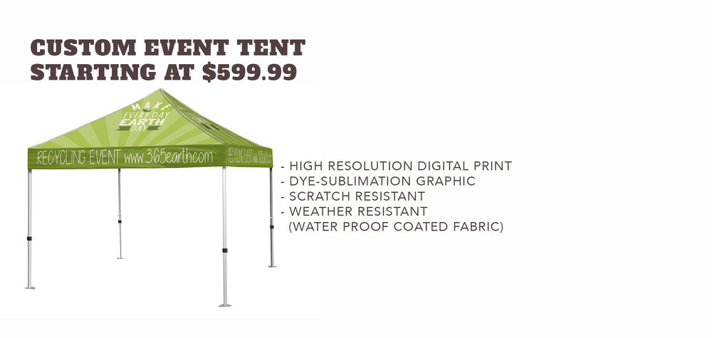 Custom Event Tent - Starting at $599.99