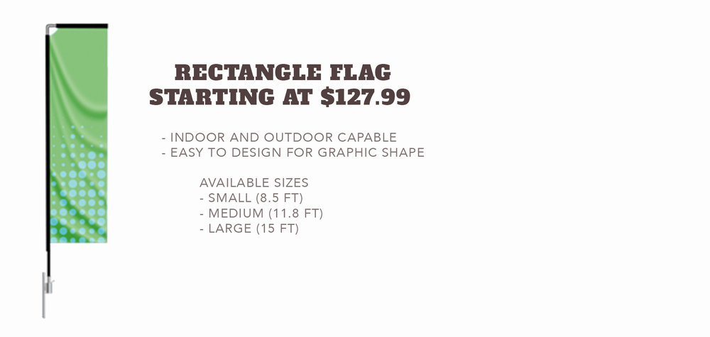 Rectangle Flag - Starting at $127.99