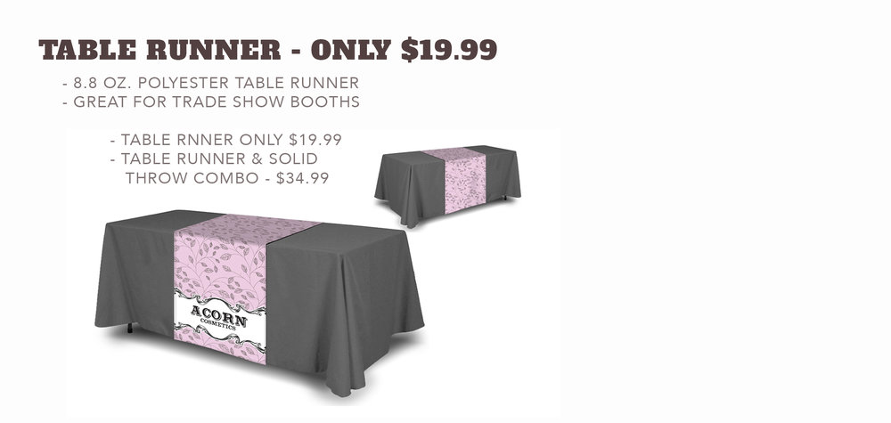 Table Runner - Starting at $19.99