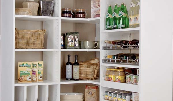 DIVIDERS, PULL-OUT SHELVING, CORNER SHELF UNIT AND OTHER PANTRY ACCESSORIES