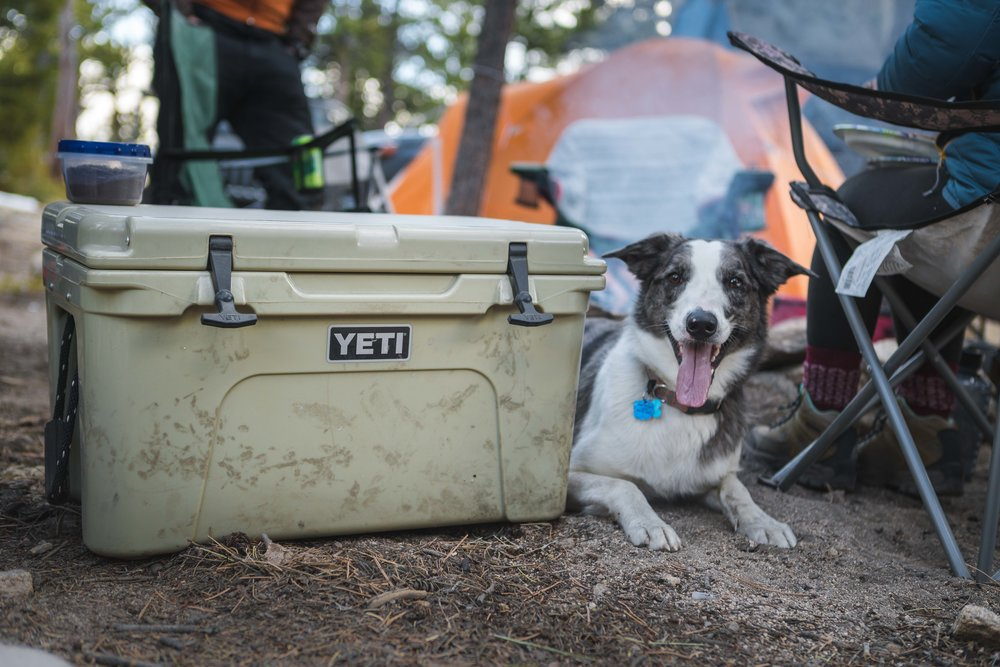 Yeti Cooler - The price of vacation usually falls two three major components: Accommodations, travel, and food. Our 4Runner will fuel our travels and paired up with a Tepui tent, will serve as our hotel also. Going to new places and discovering new culture is amazing and the best way to experience the culture is through food. Food says a lot about the community and the population in the area. Unfortunately we can't eat out every single meal, especially while we are on the road, as it gets rather expensive. To minimize food cost and keep us fed in deserted mountains of Alaska, we decided to buy ourselves a Yeti Cooler. It has been our refrigerator during our travels and serves us fresh meals when there are no stores in sight. Put a block of ice in there and it'll keep your food frozen for more than a week and a half! We've kept milk, eggs, meat and our cold drinks without having to worry about any of it spoiling. It's very spacious in the inside and well built, able to keep weary bears out of our food. Price is a little high but it is worth every penny that was put into it.