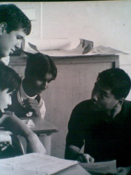 Paul teaching English 9 at Templeton Secondary School in 1996.