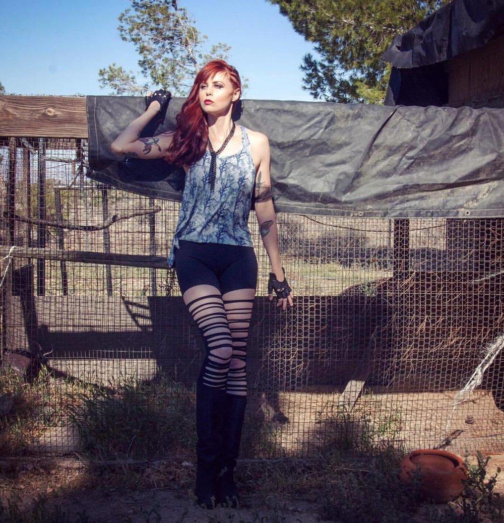 #flashback to catalog shoot for #folterclothing with our #ultrawarrior @tamararaye                 ———————————– #teamwork by: @alondraexcene_mua @shelleyshelleyshelley @retroliciousbrand #nunezphotography #fashioncatalog #madmax #warrior #firered #photoshoot #fashionphotographer  (at Phelan, California)