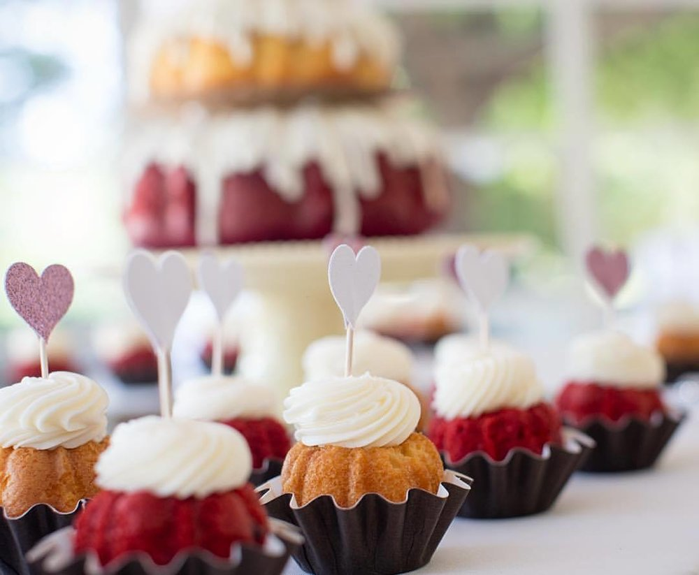 You know I can't get enough sweet treats & these mini bunt cakes were a perfect addition at the Shipp wedding.                   _________________________________ #nunezweddings #weddingphotography #weddings #love #delicious #dessert #sweettreats #cupcakes #eats #yummy #sweethearts  (at Orcutt Ranch Horticulture Center)