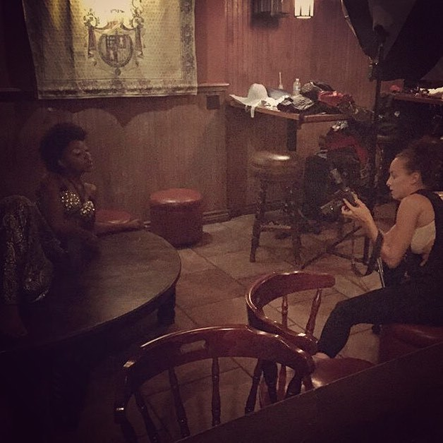 #bts of Monday's shoot @the_griffin_kitchen with @genesyncopdx & @lady_of_the_water . MUAH: @maryluartistry @modelsandycun Bra's / Style assist : @veenbee27