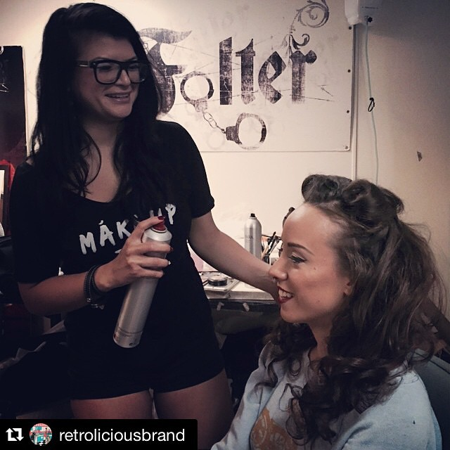 #Repost @retroliciousbrand with @repostapp.  ・・・  Make up Time!! Getting ready to shoot Retrolicious Holiday collection ✨✨✨