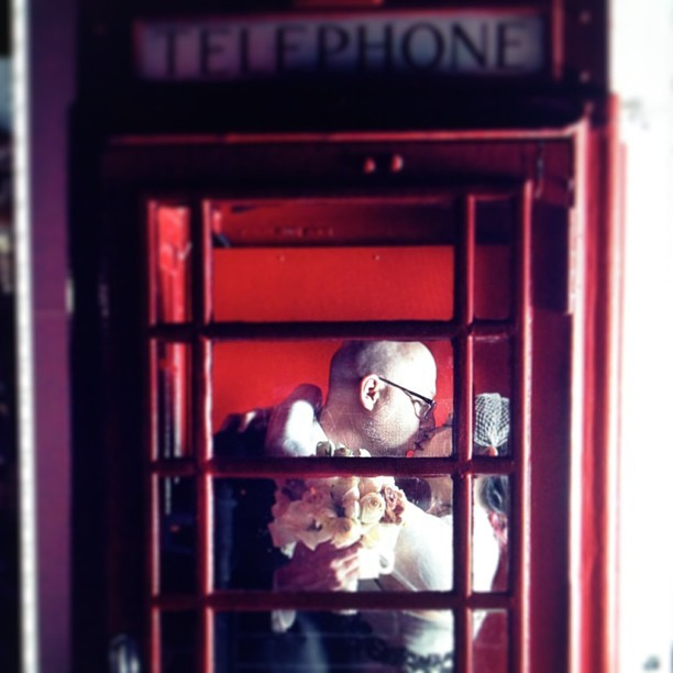 Put work it today… Off to dream land!  #photography #photo #wedding #married #weddingphotography #telephonebooth