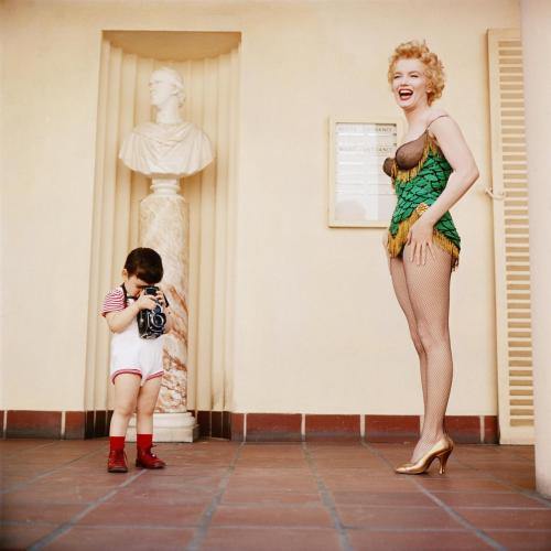 suicideblonde: Marilyn Monroe with Milton Greene's son