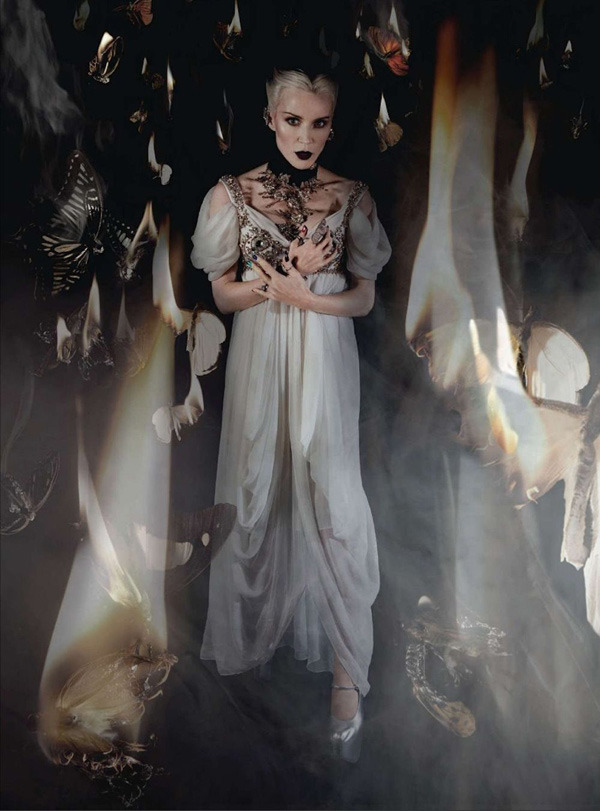spinningbirdkick :     Mat Collishaw / Harper's Bazaar UK May 2012.     Uh amasing