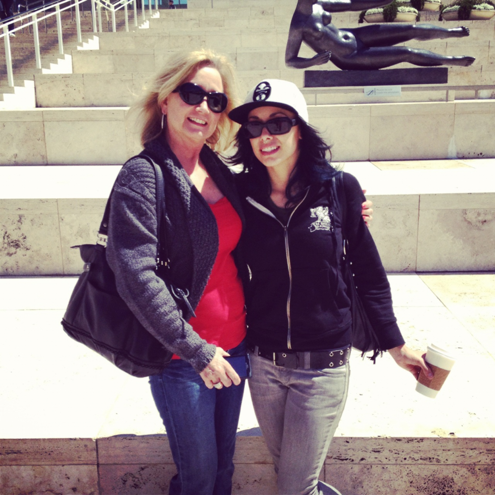 Great day with my mom's at the Paul Getty Museum!