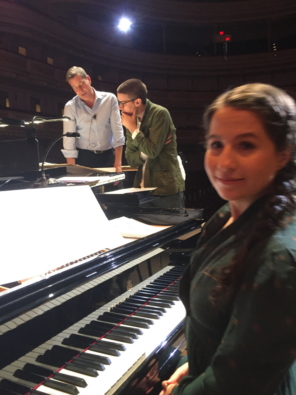 Brun working with Shaina Taub and The New York Pops Symphony at Carnegie Hall -