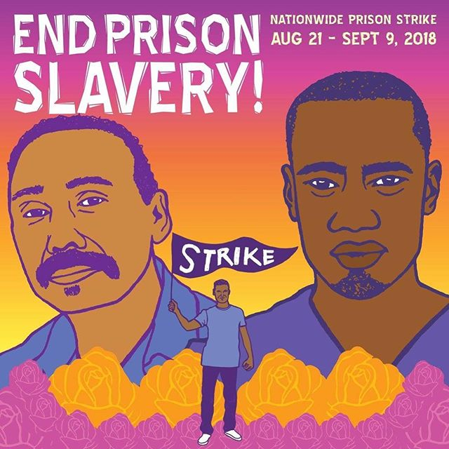 Learn about the nationwide prison strike over at @iwoc_oakland  Art: @melaniecervantes & @dignidadrebeldeart