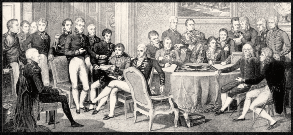 The Congress of Vienna, taking a break from negotiations for a game.