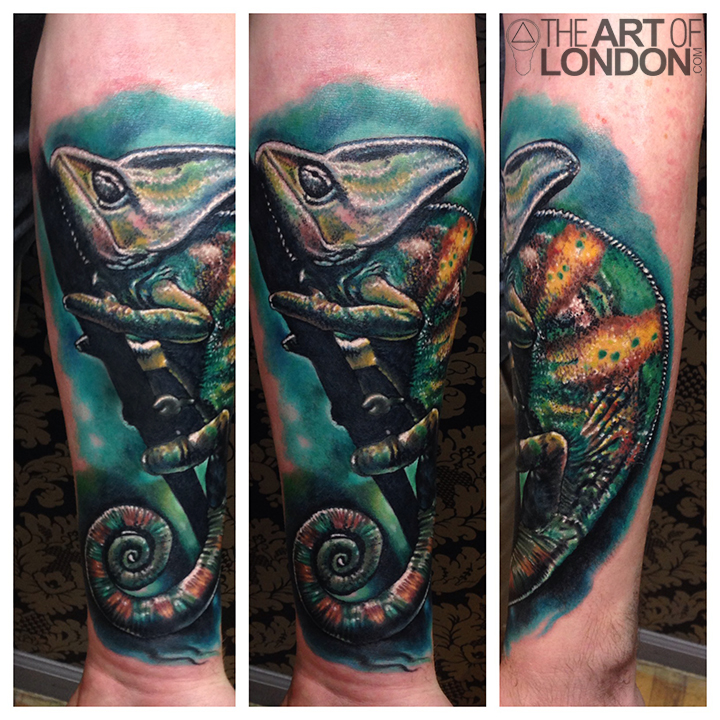Chameleon color realism animal portrait tattoo.jpg
