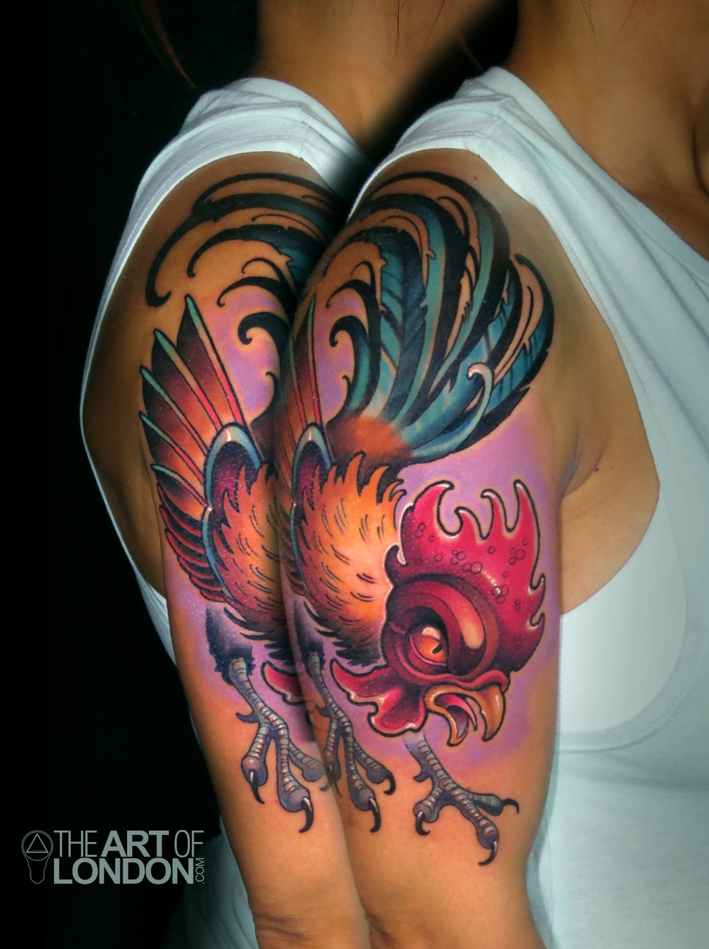 rooster new school illustrative tattoo.jpg