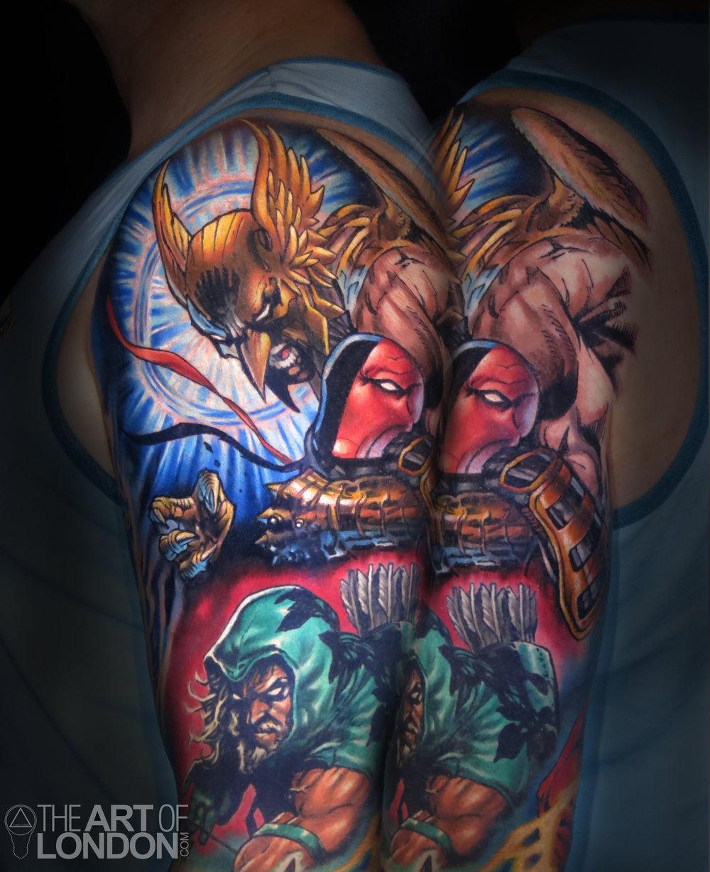 hawkman deathstroke dc comics tattoo.jpg