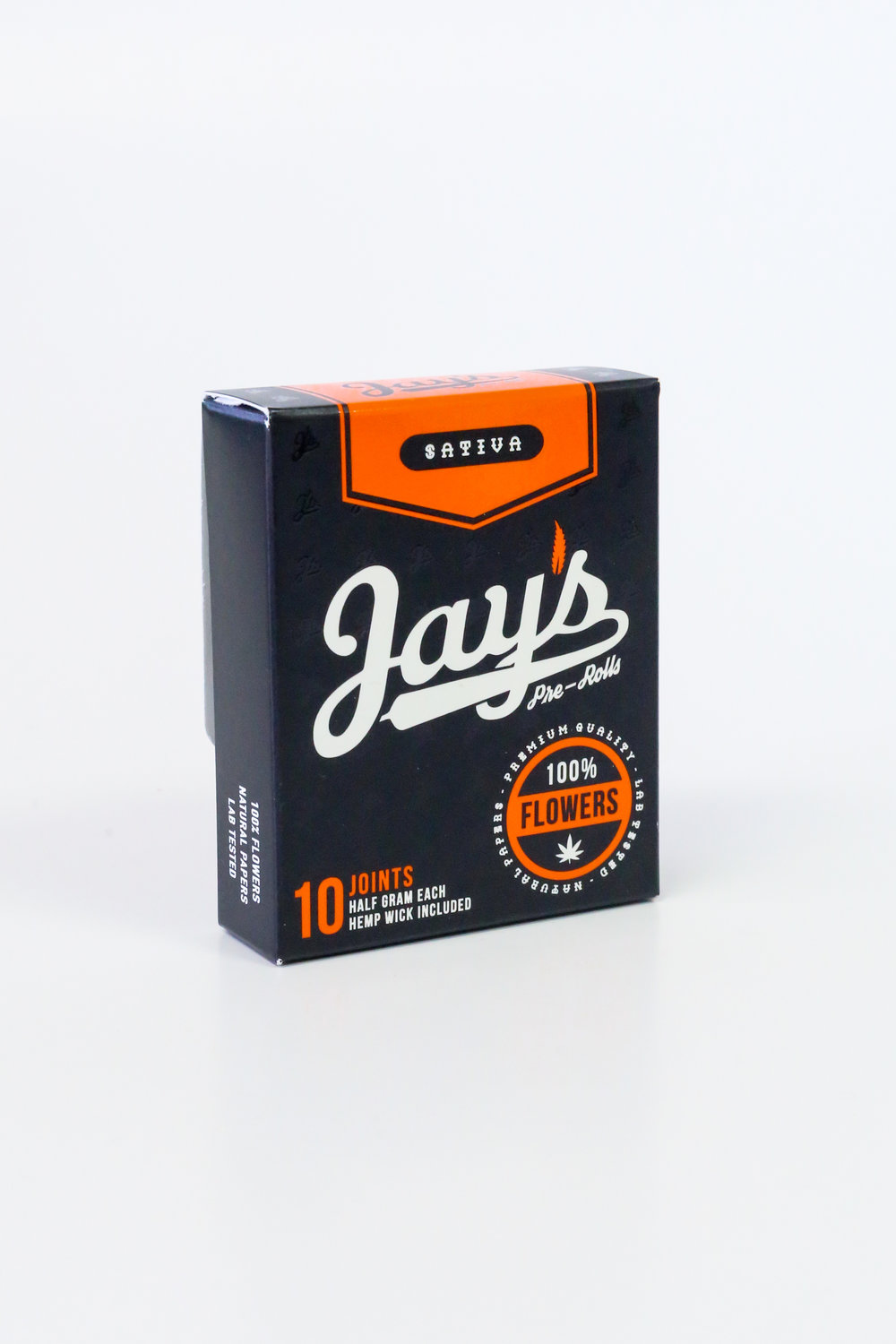 Jay's Sativa Pre-Roll Cannabis Packaging