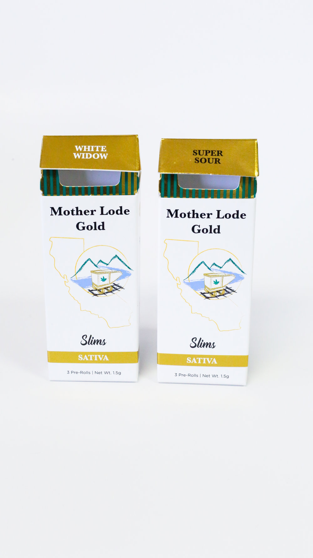 Mother Load Gold Pre-Roll Cannabis Packaging