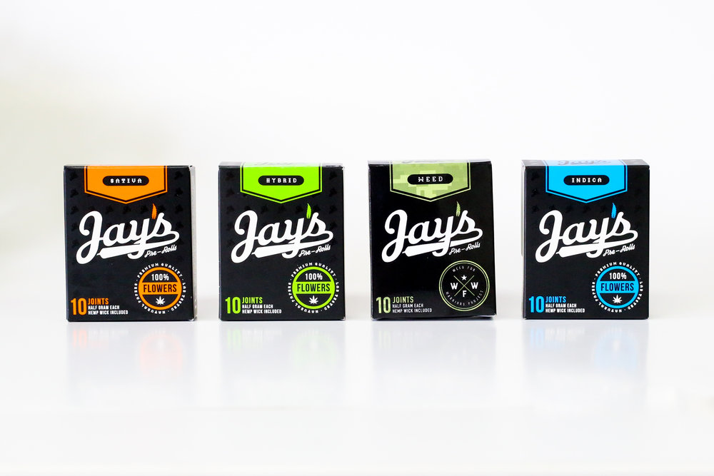Jay's Pre-Roll Cannabis Packaging