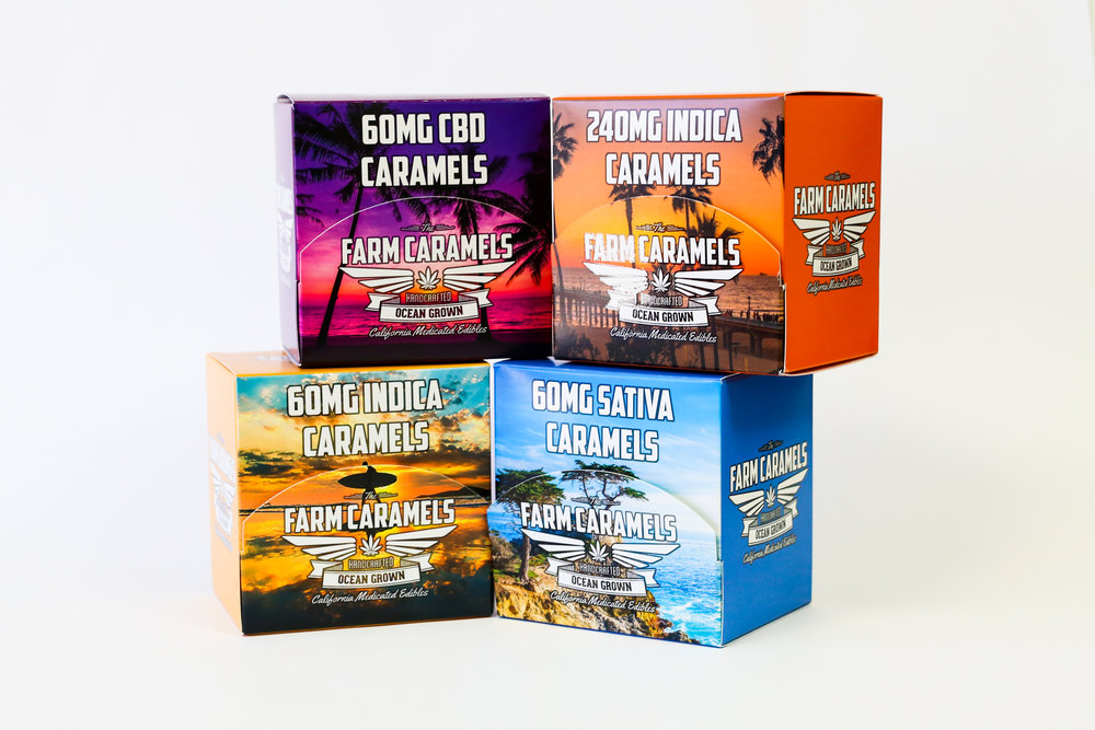 Farm Caramels California Medicated Edibles Cannabis Packaging
