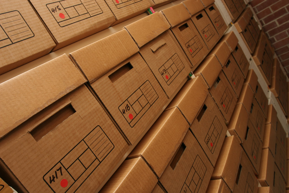 DOCUMENT STORAGE - Are you running out of space because a quarter of your office is stacked to the ceiling with boxes of files? Need to hire an extra person, but don't know where they'll work?Make some room by calling us today,and we'll come pack, bar-code, and store the items you don't use every day.