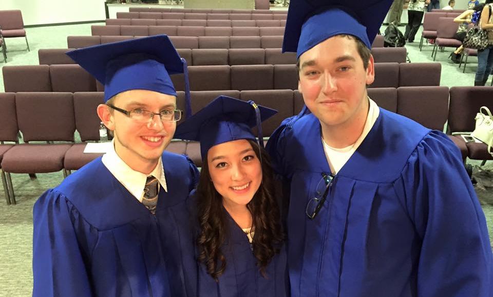 2015 Graduates (from left to right): Zachariah Hayes, Natasha Tabuchi, Kelsey Almen
