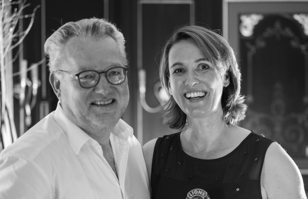 - Petra Lindemann undHans-Christian Kluttig (letzter Club-Präsident)